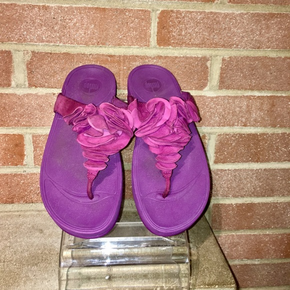 fa4278562 Fitflop Shoes - Fitflops Frou Fuchsine Ruffle suede leather size 8